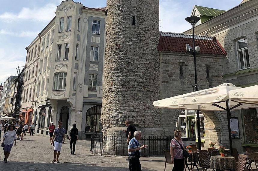 Tallinn, the capital of Estonia, which has just over 1.3 million people and GDP per capita of US$23,312 (S$31,600). Estonia's President Kersti Kaljulaid is known to champion the digitalisation of governments.