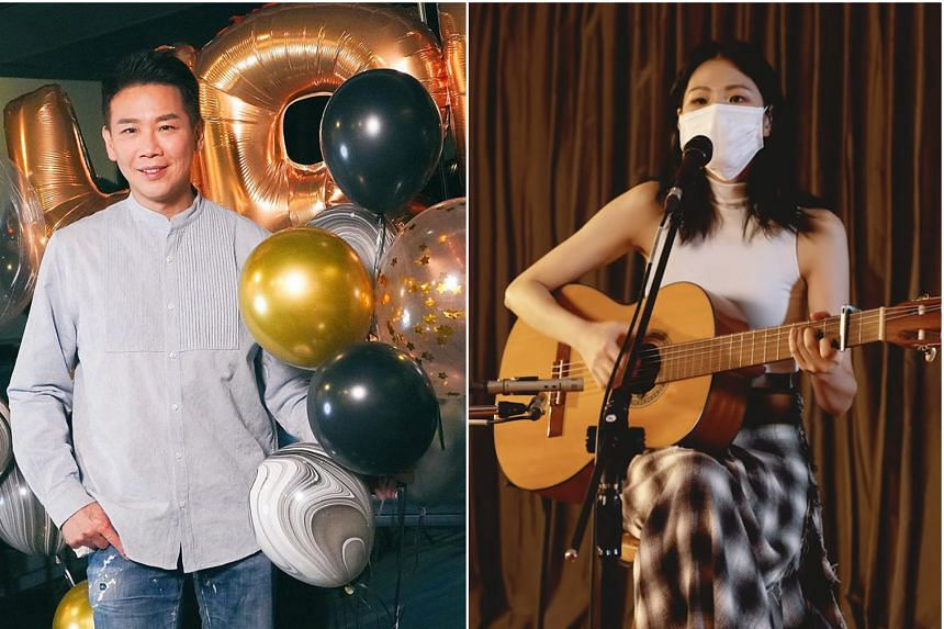 Taiwanese singer-songwriter David Tao (left) and Taiwanese folk singer-songwriter Misi Ke.