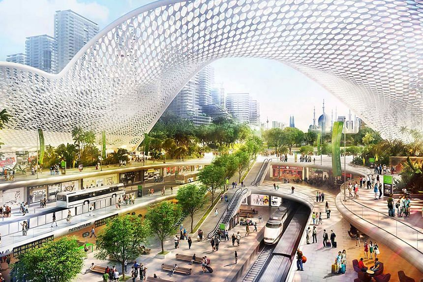 An artist's impression in 2017 of the Bandar Malaysia project.