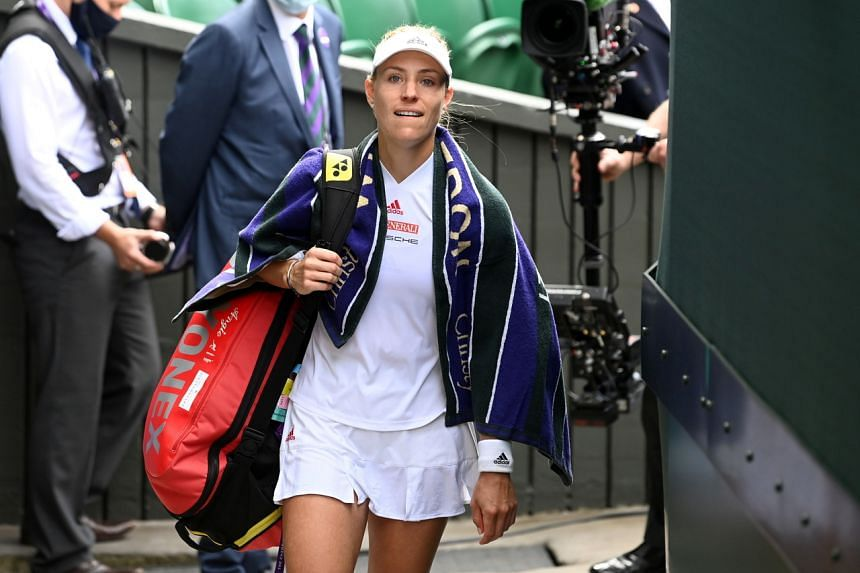 Angelique Kerber (pictured) reached the semi-final at Wimbledon before losing to eventual champion Ashleigh Barty.