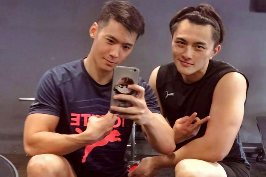 Actor Joshua Tan (left) has been friends with jailed actor Shane Pow for more than 15 years.