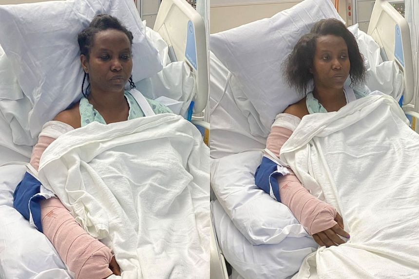 Murdered Haiti president's injured wife Martine Moïse shares photos of herself in hospital after being shot – and says she can't believe her husband was assassinated in front of her 'without saying a last word to me'