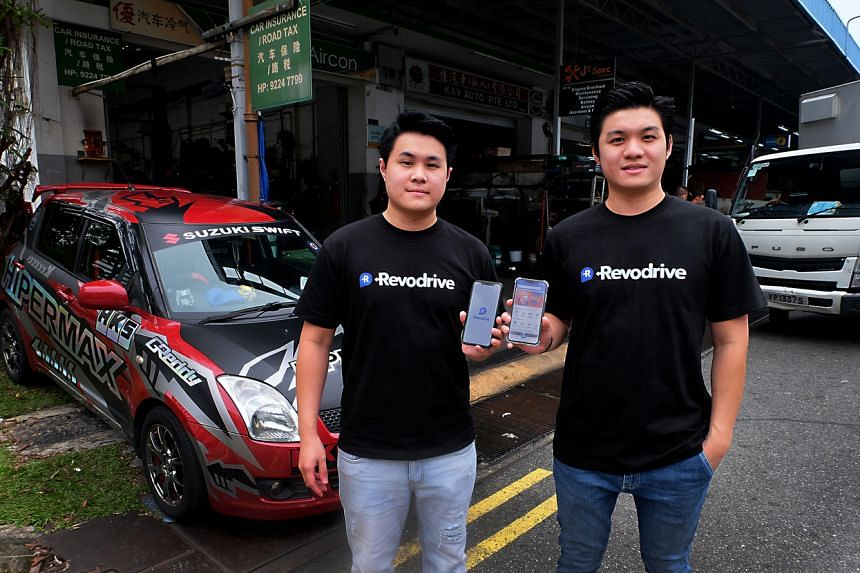 Mr Edison Chan (left) started Revodrive with his brother Han Zong  during last year's circuit breaker period.