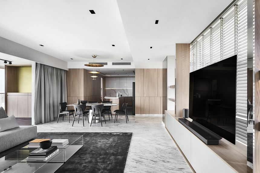 Designer Yeo See Wee of Wee Studio crafted a distinctive interior for this condominium project.
