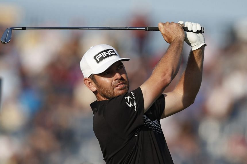 South Africa's Louis Oosthuizen in action during the second round.