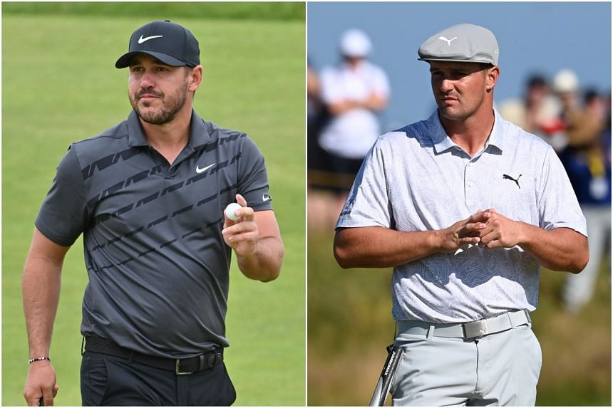 The tension between world No. 8 Brooks Koepka (left) and No. 6 Bryson DeChambeau provided an interesting sub-plot before the British Open.