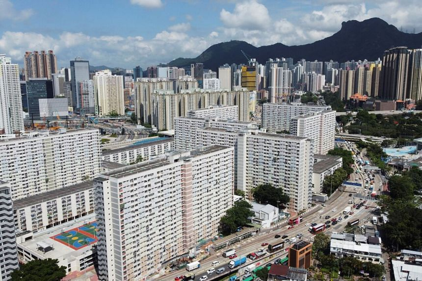 The Choi Hung public housing estate in Hong Kong, which has the world's least-affordable residential property market.
