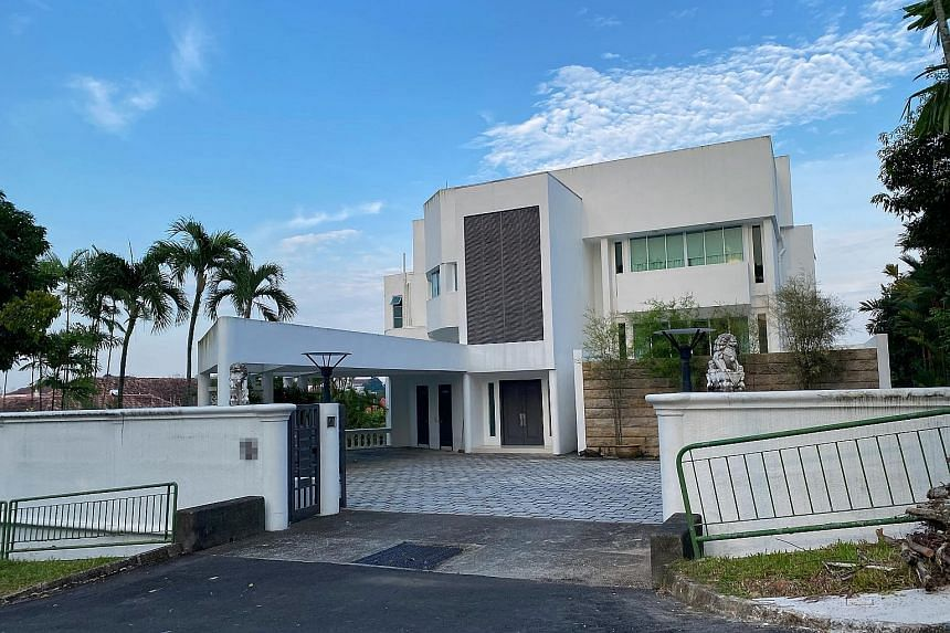 The freehold good class bungalow in Second Avenue is jointly owned by beleaguered Hin Leong founder Lim Oon Kuin and his wife. ST FILE PHOTO
