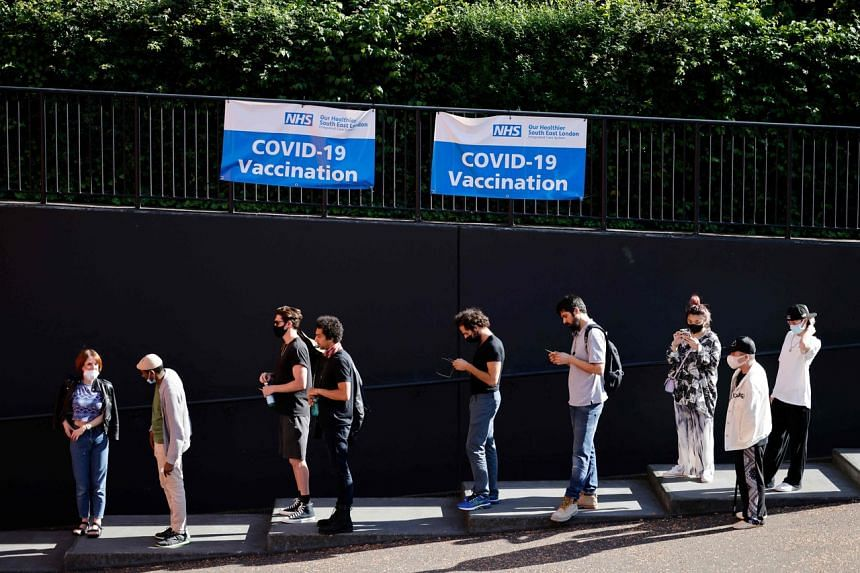 So far, 87.8 per cent of adults in Britain have received a first shot of Covid-19 vaccine.