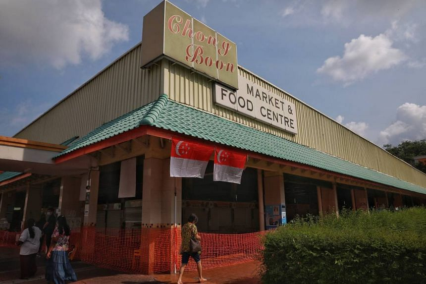 Chong Boon Market & Food Centre on July 18, 2021. It is one of 12 markets with confirmed Covid-19 cases.