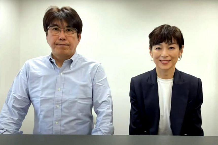 Japanese actress Honami Suzuki has divorced her husband, comedian Takaaki Ishibashi (left).