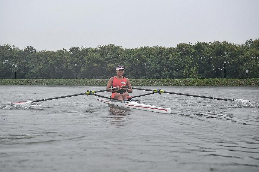 National rower Joan Poh, who is a staff nurse at Tan Tock Seng Hospital's renal department, has taken over 20 months of no-pay leave to train and qualify for the upcoming Tokyo Games.