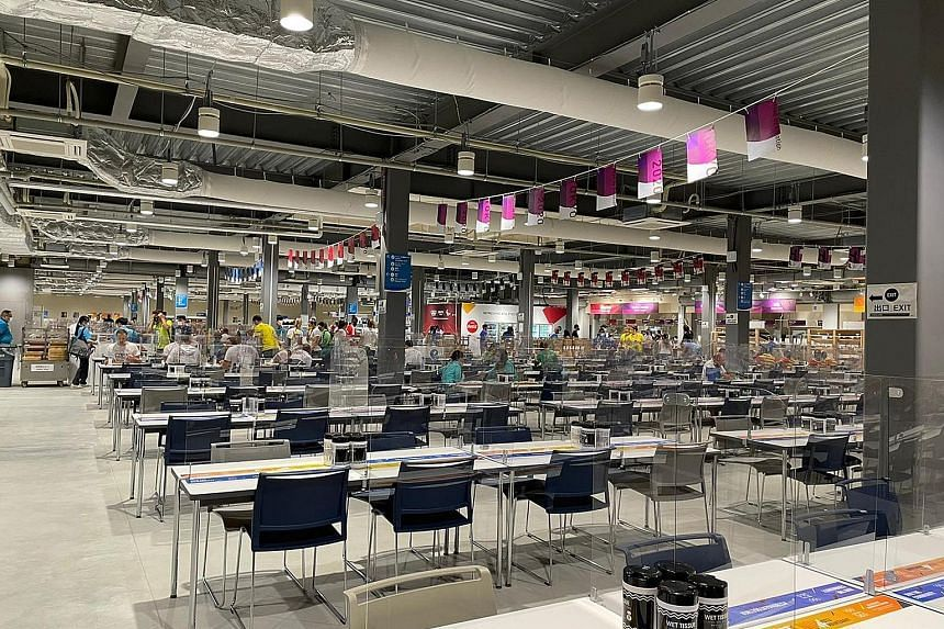 The dining hall at the Games Village.