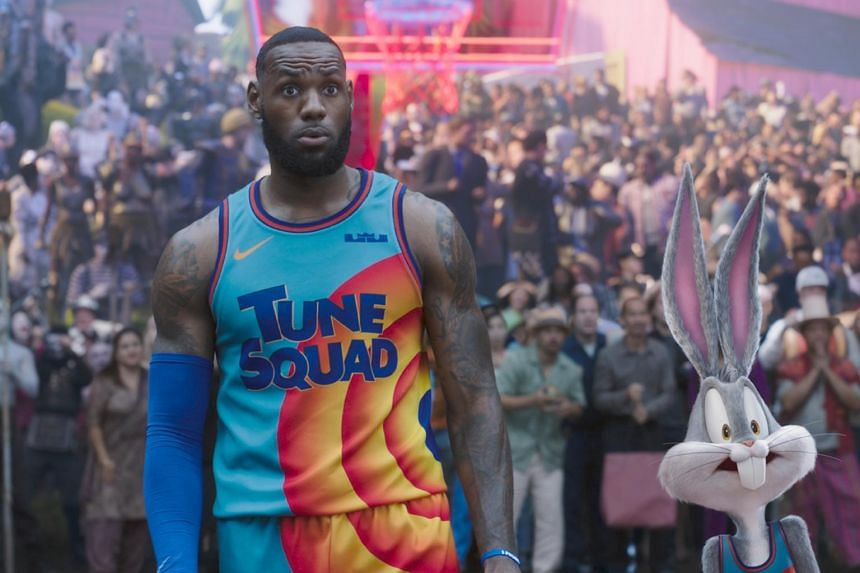 Space Jam: A New Legacy sees basketball star LeBron James team up with the animated Looney Tunes crew.