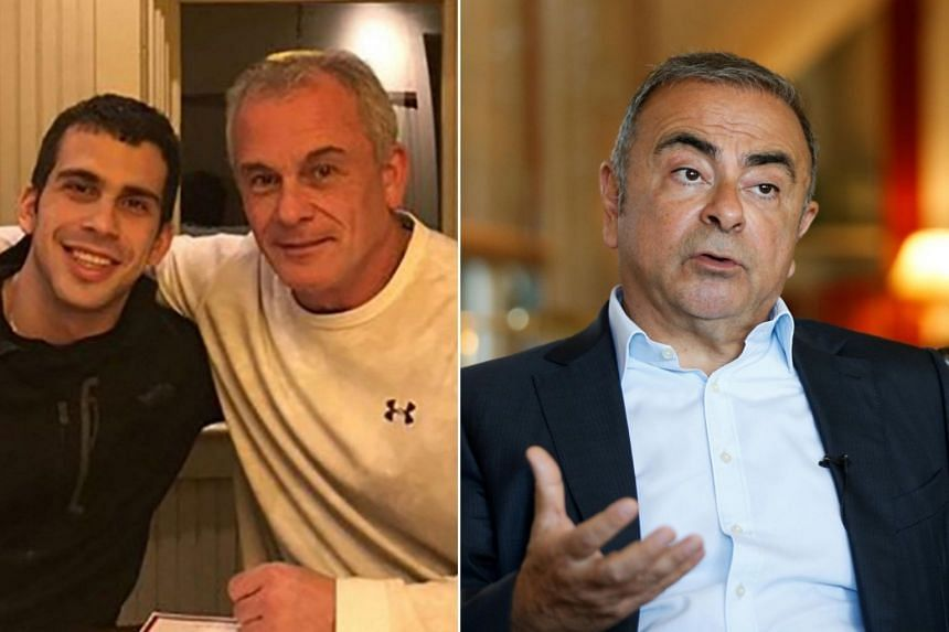 Michael Taylor and his son Peter (left),  pleaded guilty last month to charges of aiding Carlos Ghosn's (right) escape to Beirut.