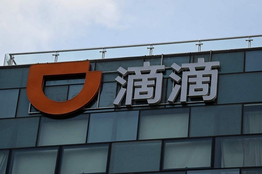 Chinese ride-hailing giant Didi Chuxing at its headquarters in Beijing on July 2, 2021.