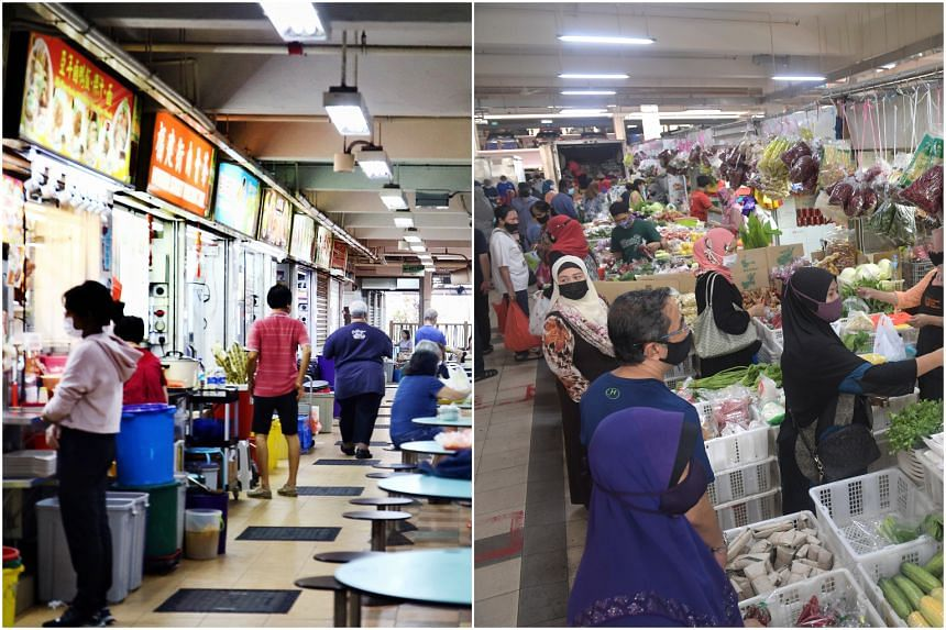 TraceTogether-only SafeEntry requirements will be enforced at all wet markets and hawker centres in Singapore.