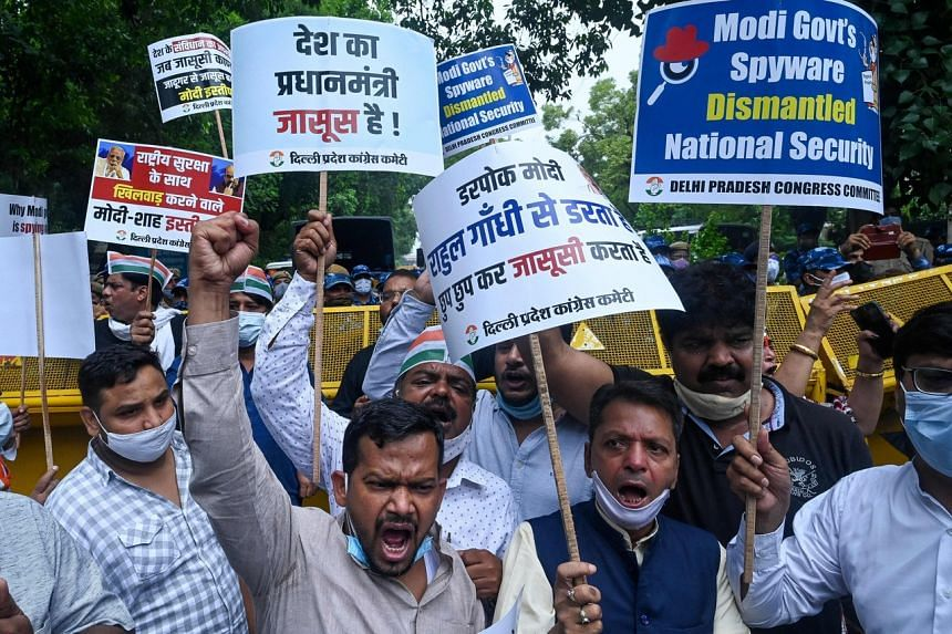 Opposition leaders said the Modi administration was spying on journalists, activists and politicians.