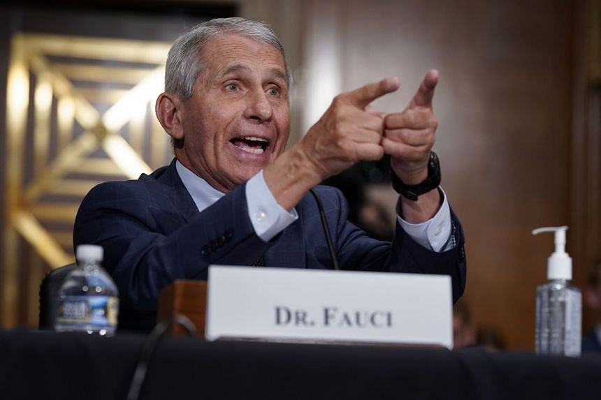 Anthony Fauci responds during a Senate hearing in Washington on July 20, 2021.