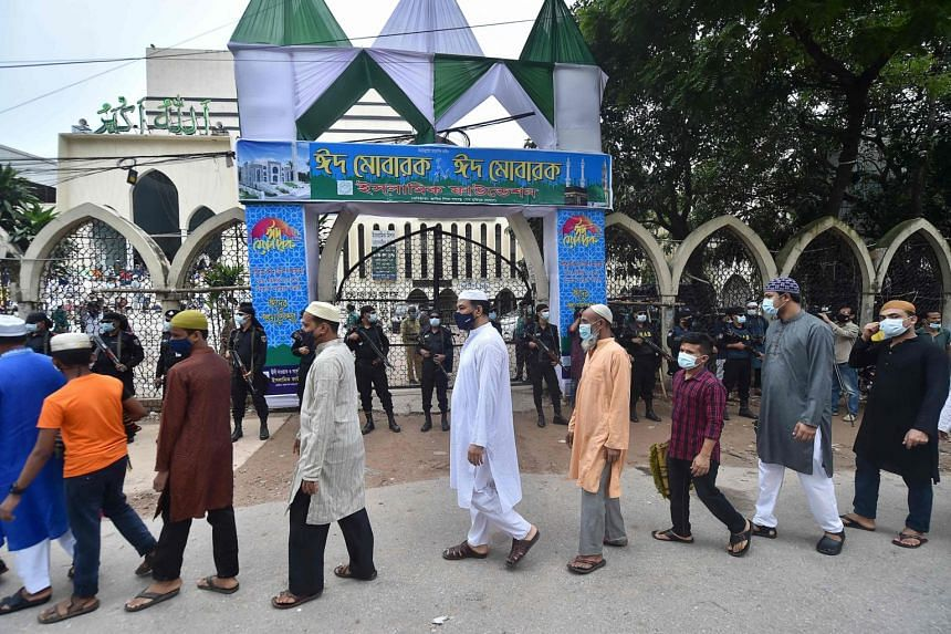 Tens of millions of Bangladeshis defied a Covid-19 surge to join prayers in packed mosques and outdoor locations.
