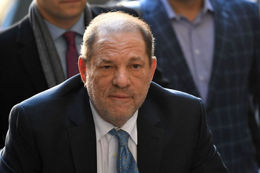 A 2020 photo shows Harvey Weinstein arriving for his court hearing on sex crime charges in New York.