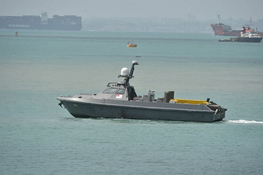 The Republic of Singapore Navy's unmanned surface vessel used for mine countermeasure operations.