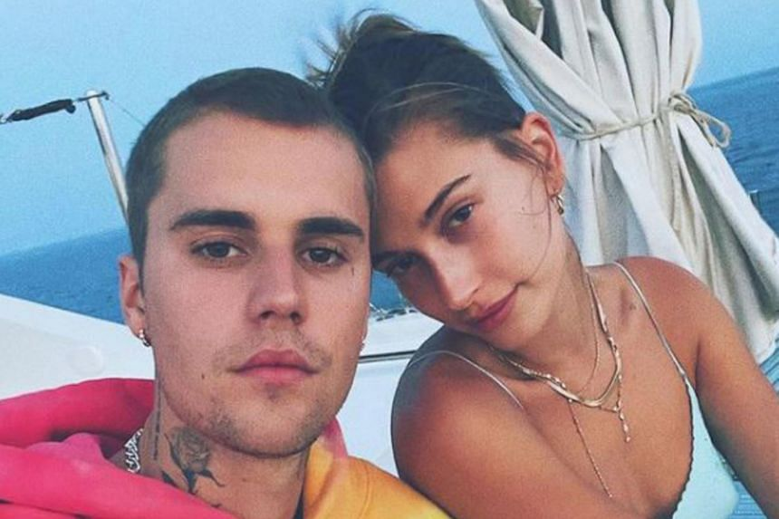 Canadian singer Justin Bieber and his wife Hailey Baldwin.
