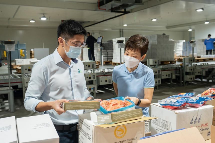 Minister for Sustainability and the Environment Grace Fu during a visit to Jurong Cold Store on July 21, 2021.