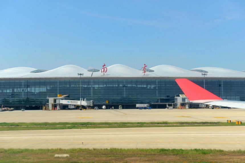 More than 65 per cent of flights at the Nanjing Lukou International Airport were cancelled as a result.