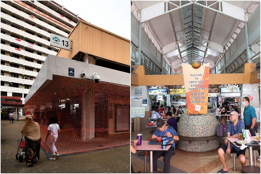 Haig Road Market & Food Centre (left) and Chong Pang Market & Food Centre.