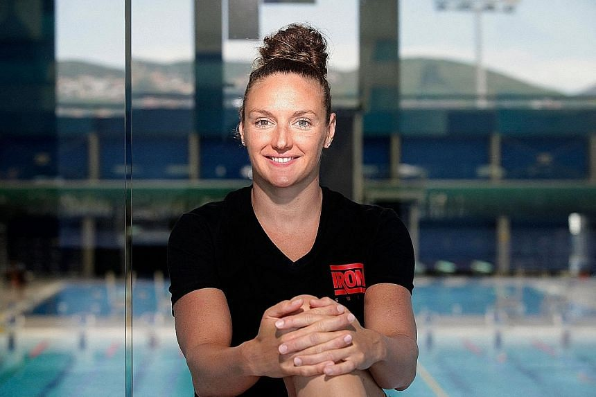 """Hungarian swimmer Katinka Hosszu, nicknamed the """"Iron Lady"""", won three gold medals at the 2016 Rio Games."""