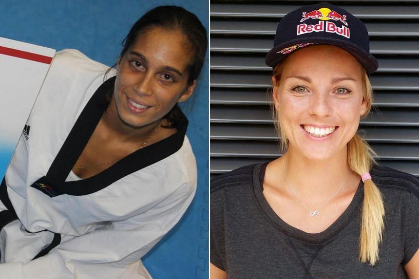 Olympic taekwondo competitor Reshmie Oogink (left) and beach volleyball player Marketa Nausch-Slukova both tested positive.