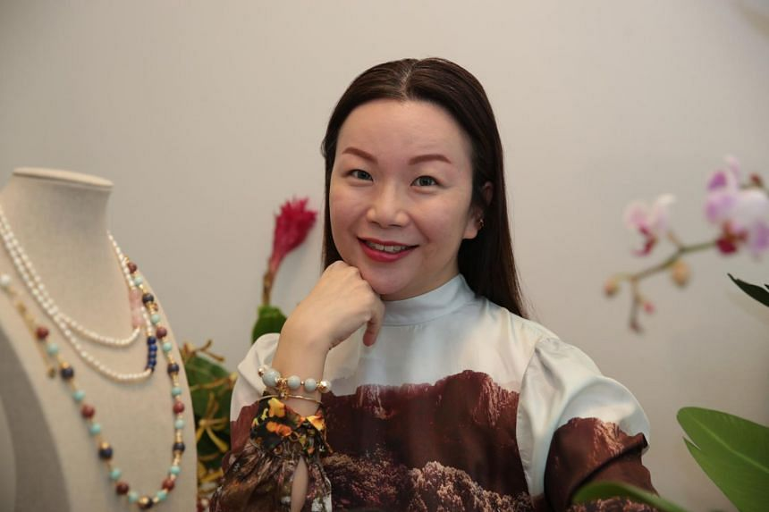 Ms Tan Shu Min, founder of Covet Crystals Jewelry.