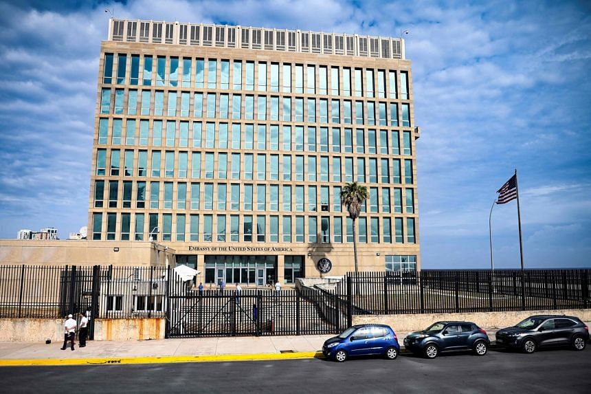 The United States Embassy in Havana on May 20, 2021.