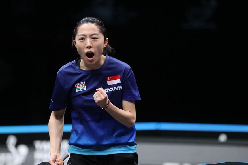 Singapore paddler Yu Mengyu should be able to dodge players from China at least until the semi-finals.