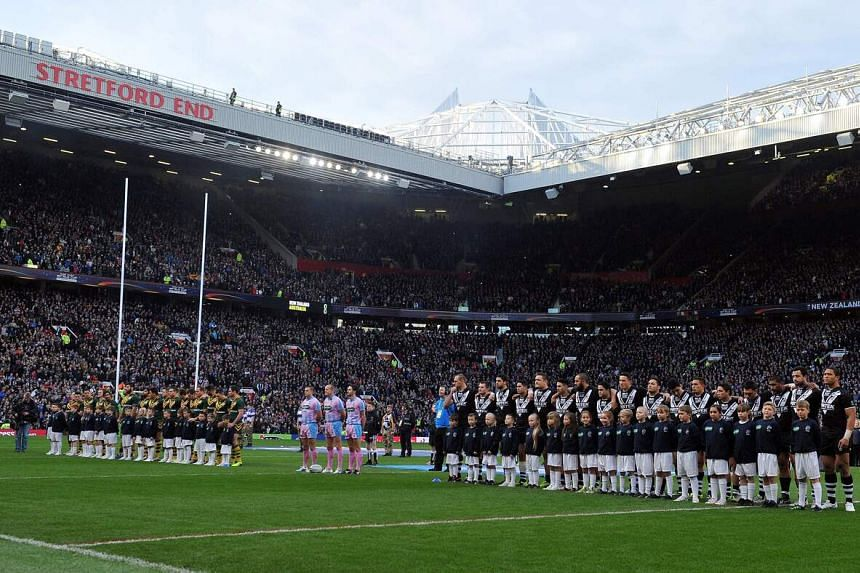 The 2013 Rugby League World Cup final between Australia and New Zealand at Old Trafford in Manchester, England.