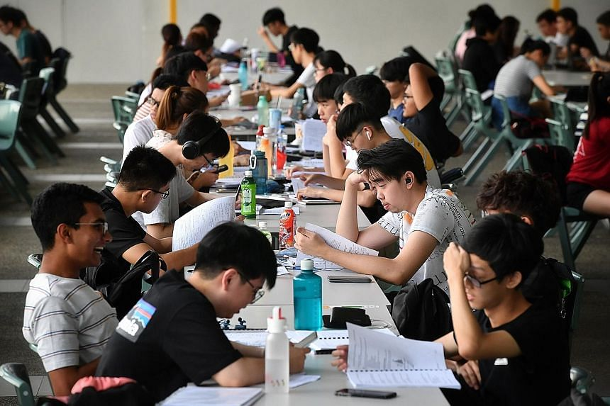 Students in Singapore Polytechnic in February last year, before the pandemic. The writer says we need to know how bad the mental health situation among our children is, and if we are taking meaningful measures to contain it.