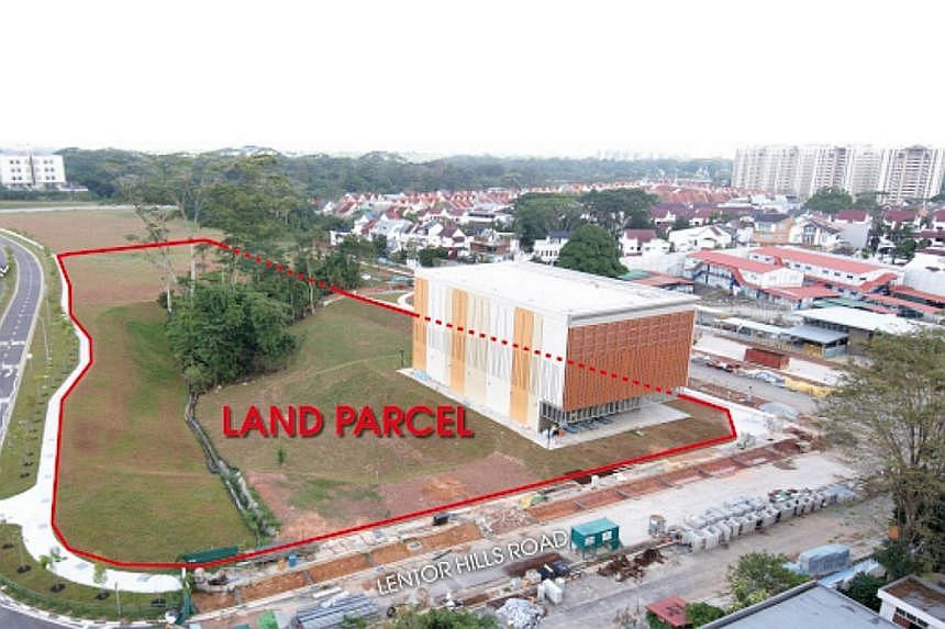 A GuocoLand unit was the top bidder for the Lentor Central site (above), with an offer of $784.1 million - 4.5 per cent higher than the second-highest bid of $750 million. The parcel is located next to the upcoming Lentor MRT station on the Thomson-E
