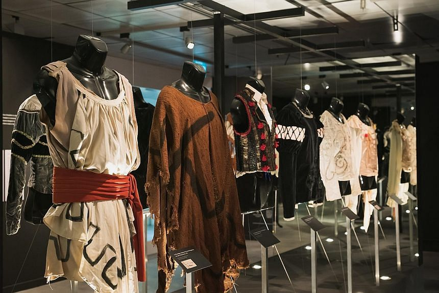 The 14 costumes on display here are part of Charles Jude's private collection.