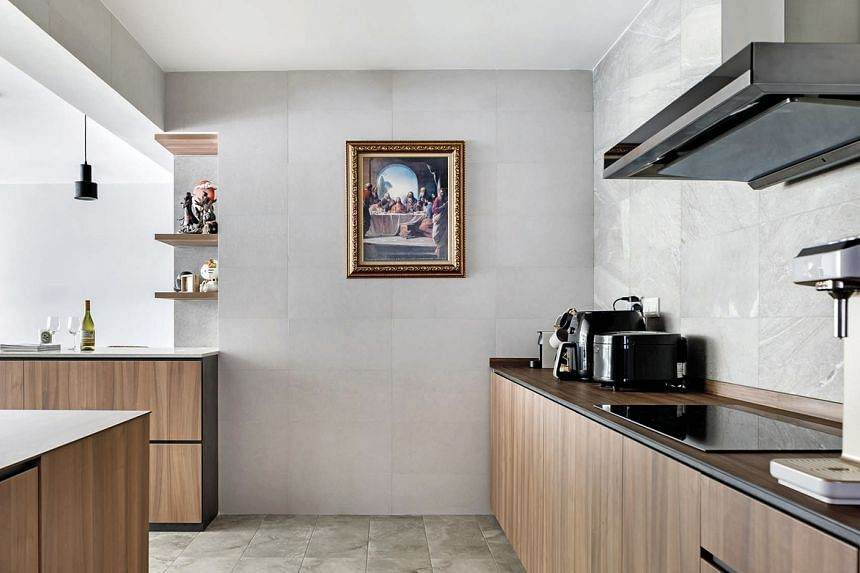 The original kitchen space was segregated into a smaller wet kitchen and a larger dry one.