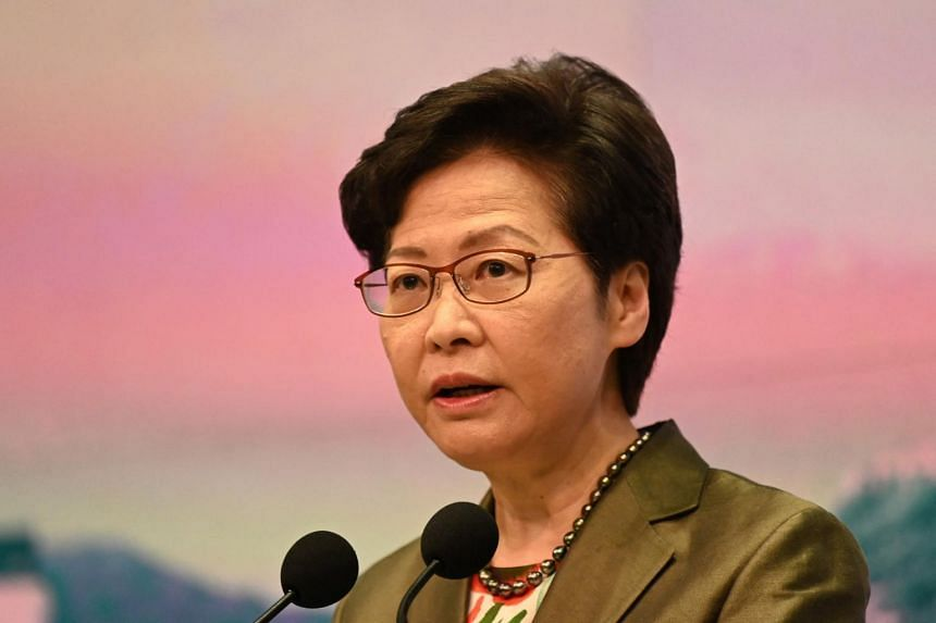 Hong Kong Chief Executive Carrie Lam was referring to comments published by Reuters at the height of Hong Kong's protests in 2019.