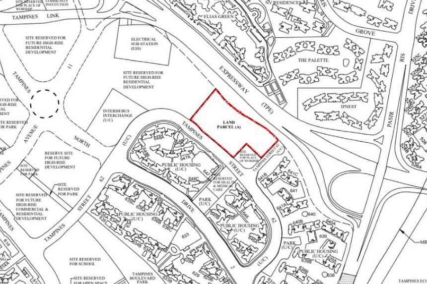 The top bid for the EC plot in Tampines Street 62 was $659 per sq ft per plot ratio.