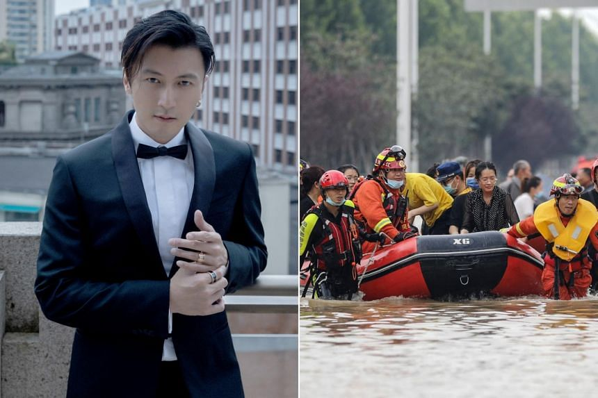 Singer-actor Nicholas Tse is among the 100 artistes to have donated money for relief efforts in Henan, China.