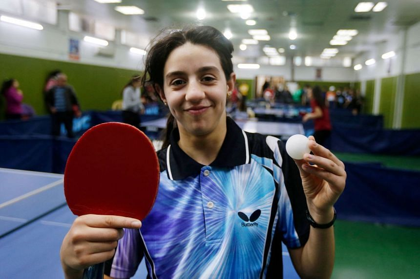 When Hend Zaza (above, in 2020) she takes on Austria's Liu Jia, who at 39 is old enough to be her mother, she will become the youngest Olympian at the Tokyo Games.