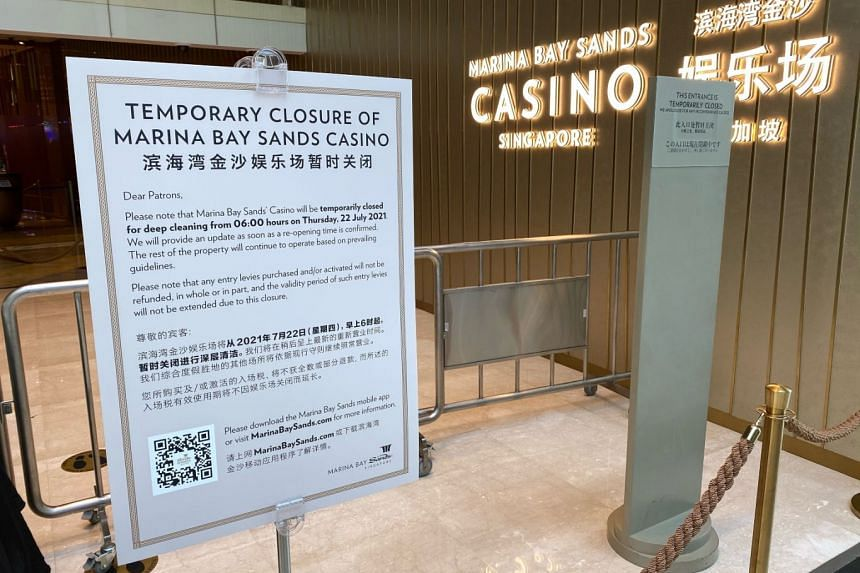 Closure is to facilitate deep cleaning, but other outlets in the integrated resort are still open.