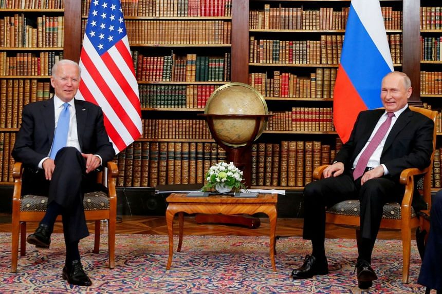 The so-called Strategic Stability Dialogue was set up during a June 16 summit between US President Joe Biden and his Russian counterpart Vladimir Putin in Geneva (above).