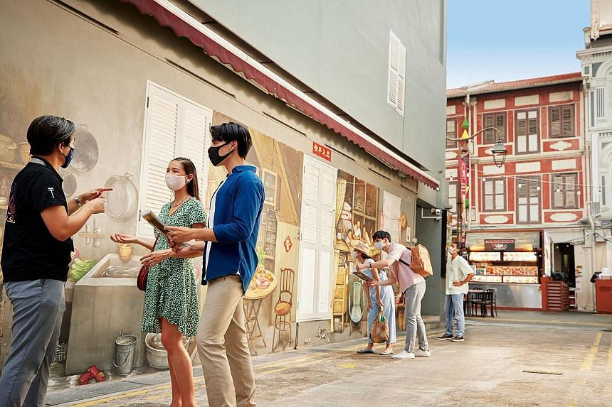 Local tour company Tribe's Chinatown Murders won it an Outstanding Tour Experience award at the Singapore Tourism Awards 2021 yesterday. PHOTO: SINGAPORE TOURISM BOARD