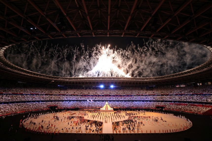 The Tokyo 2020 opening ceremony at the Tokyo National Stadium on July 23, 2021.