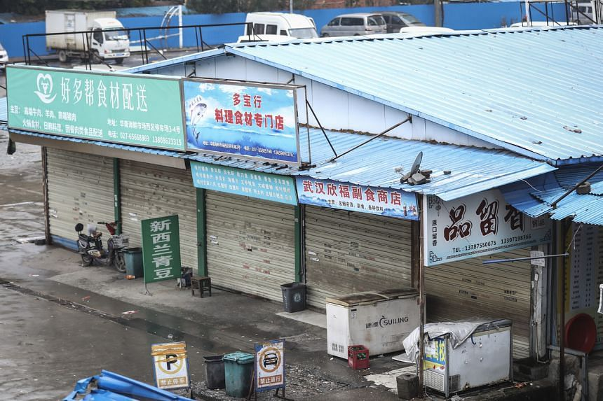 Many of the first Covid-19 cases were linked to Wuhan's Huanan seafood market.