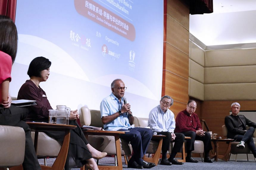 Home Affairs and Law Minister K. Shanmugam speaking at a public forum on race relations on July 24, 2021.